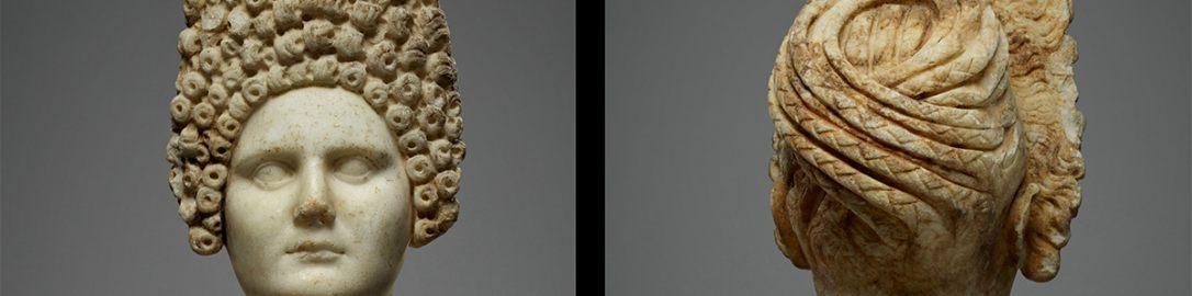 Popiersie Rzymianki z modną fryzurą za rządów dynastii Flawiuszów