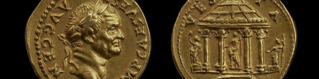 Rzymska złota moneta Wespazjana
