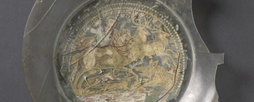 Roman vessel from golden glass