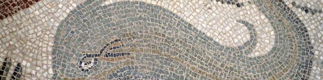Delfin na rzymskiej mozaice