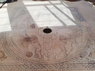 Mozaika podłogowa w domu rzymskim w Marsali