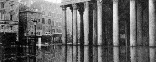 Panteon w wodzie w 1870 roku