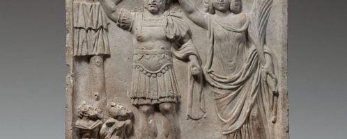 Relief ukazujący koronowanego cesarza Karakallę