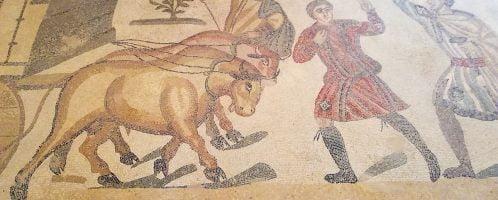 Rzymska mozaika ukazująca transport zwierząt na igrzyska