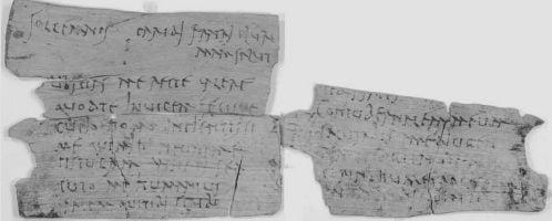 Tabliczka (nr 311) odkryta na terenie Vindolandy