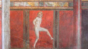 Fresk ukazujący tańczącego Satyra