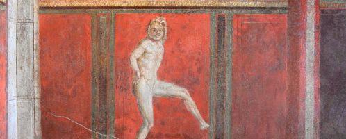 Fresco depicting dancing Satire