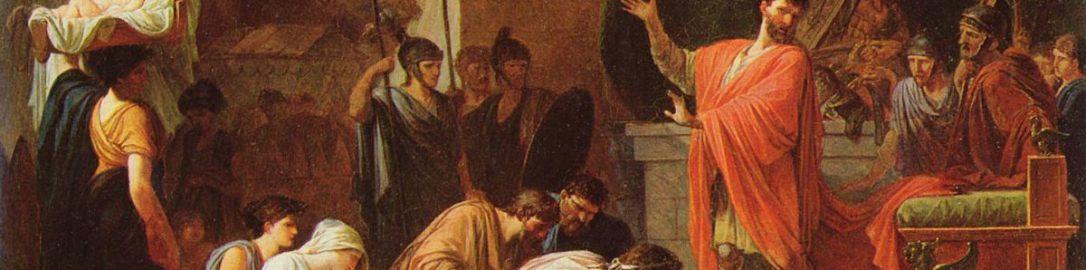 Jean-François Pierre Peyron, Perseusz Macedoński poddaje się Paulusowi