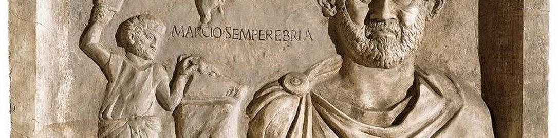 Relief nagrobny ukazujący rzymskiego rzeźnika