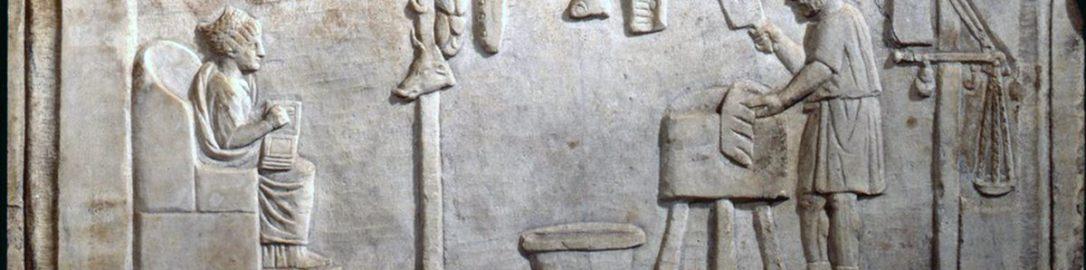 Relief rzymski ukazujący rzeźnika przy pracy