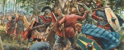 Zasadzka Germanów na rzymskich żołnierzy w 9 roku n.e.