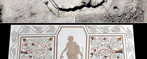 Zrekonstruowana komputerowo rzymska mozaika